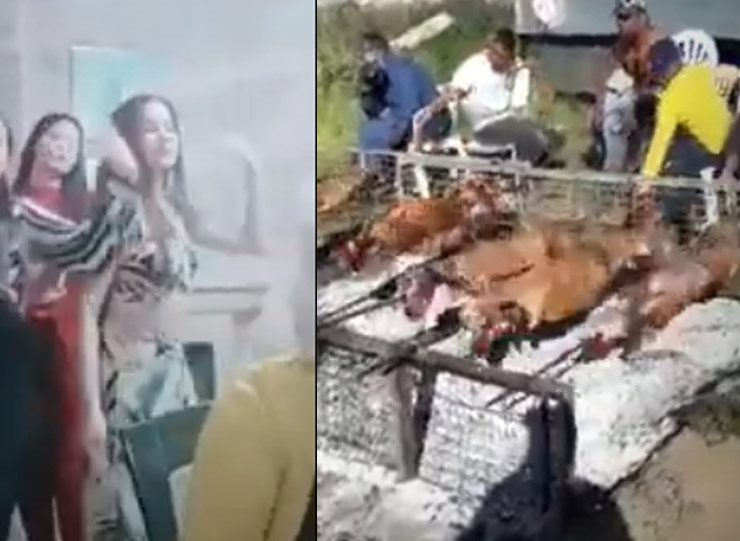 Roma have massive celebration with spit roast lamb and dancing in the middle of coronavirus lockdown (VIDEOS) 4