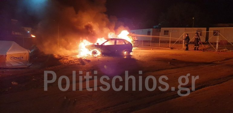 Illegal immigrants on Chios riot on Holy Saturday 11