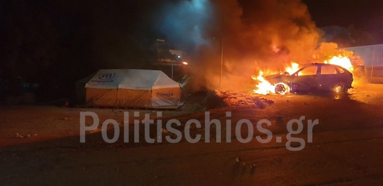 Illegal immigrants on Chios riot on Holy Saturday 10