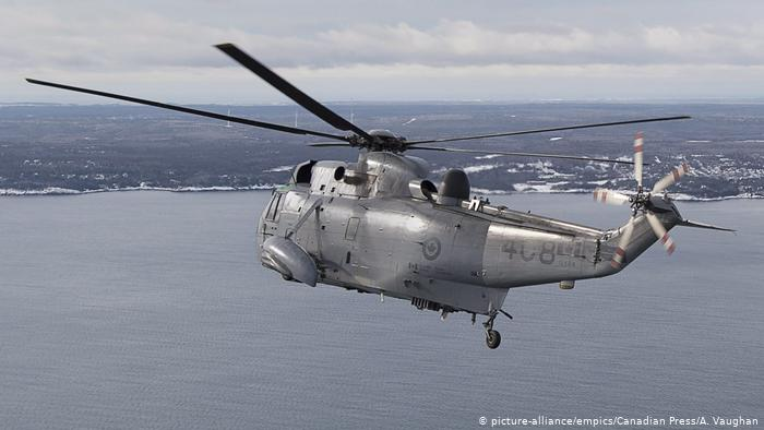 Canadian military helicopter reported missing while operating in Mediterranean sea