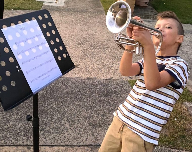 Rocky-DImitri Spiliopoulos Holt play The Last Post on Anzac Day