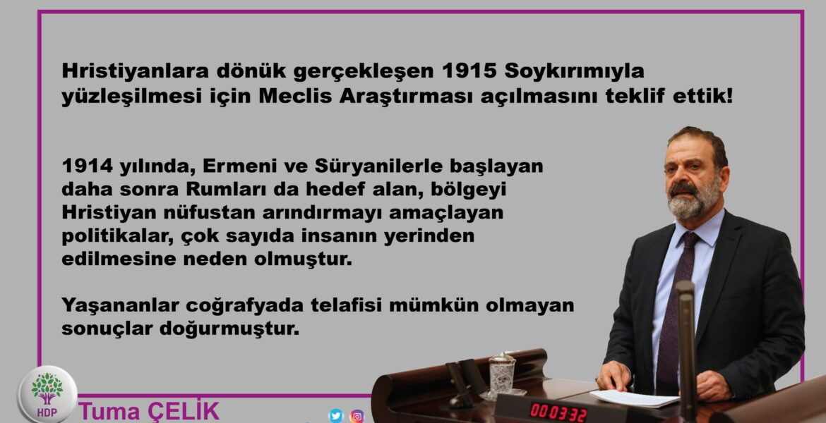 MP of Turkish Parliament demands investigation into the Greek Genocide 1