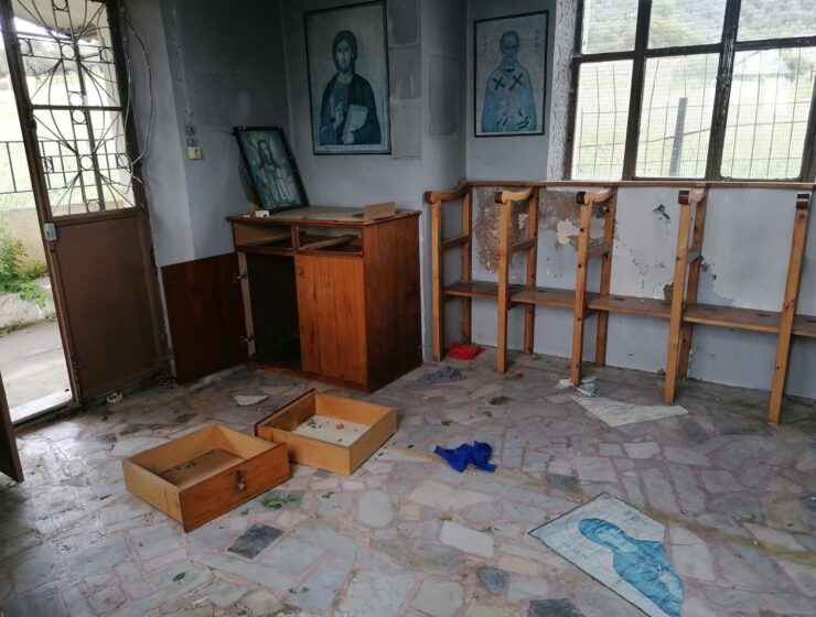 Illegal immigrants attack another church on Lesvos 6