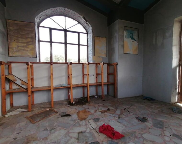 Trashed church on Lesvos becomes toilet for illegal immigrants 36