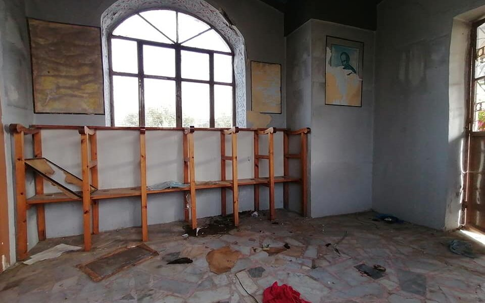 Trashed church on Lesvos becomes toilet for illegal immigrants 1