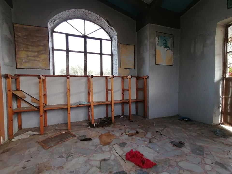 Trashed church on Lesvos becomes toilet for illegal immigrants 3