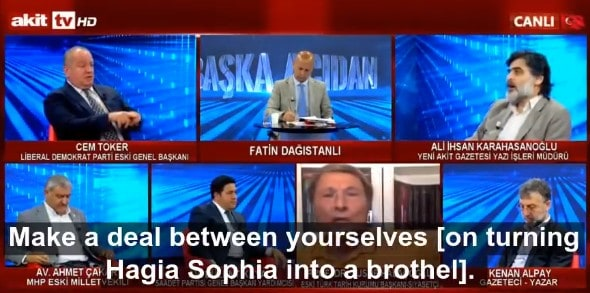 Turkish television network hosts debate on turning Hagia Sophia into a brothel 2