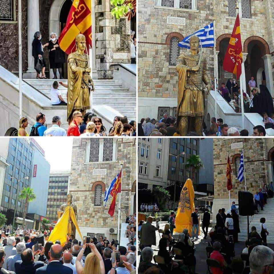 Statue of the last Byzantine Emperor is unveiled in Piraeus 5