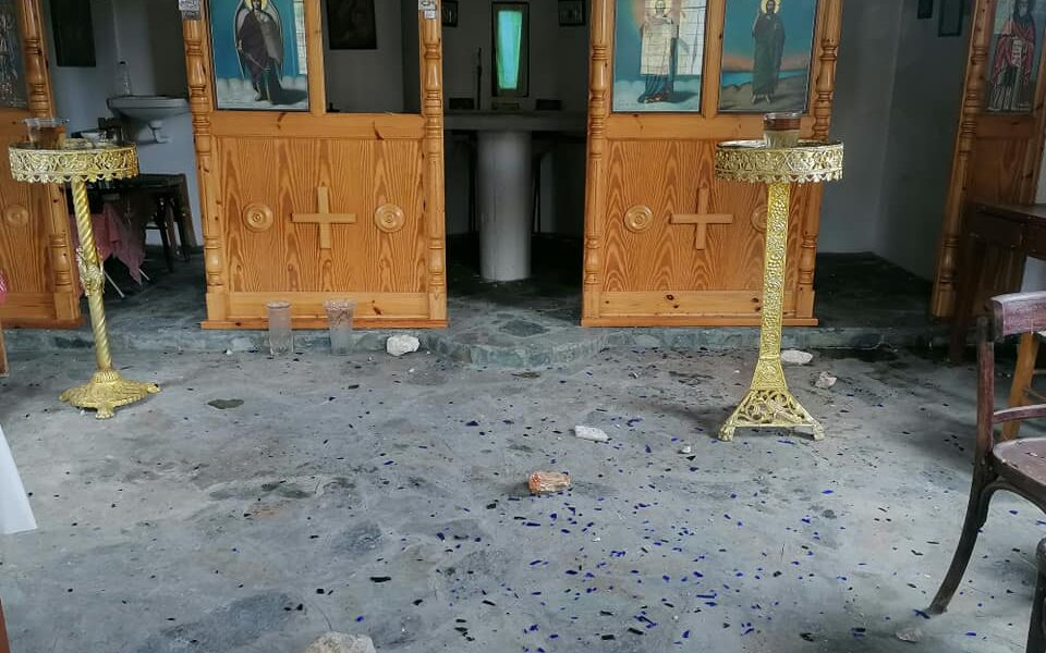 Church in Lesvos attacked with stones by illegal immigrants 1