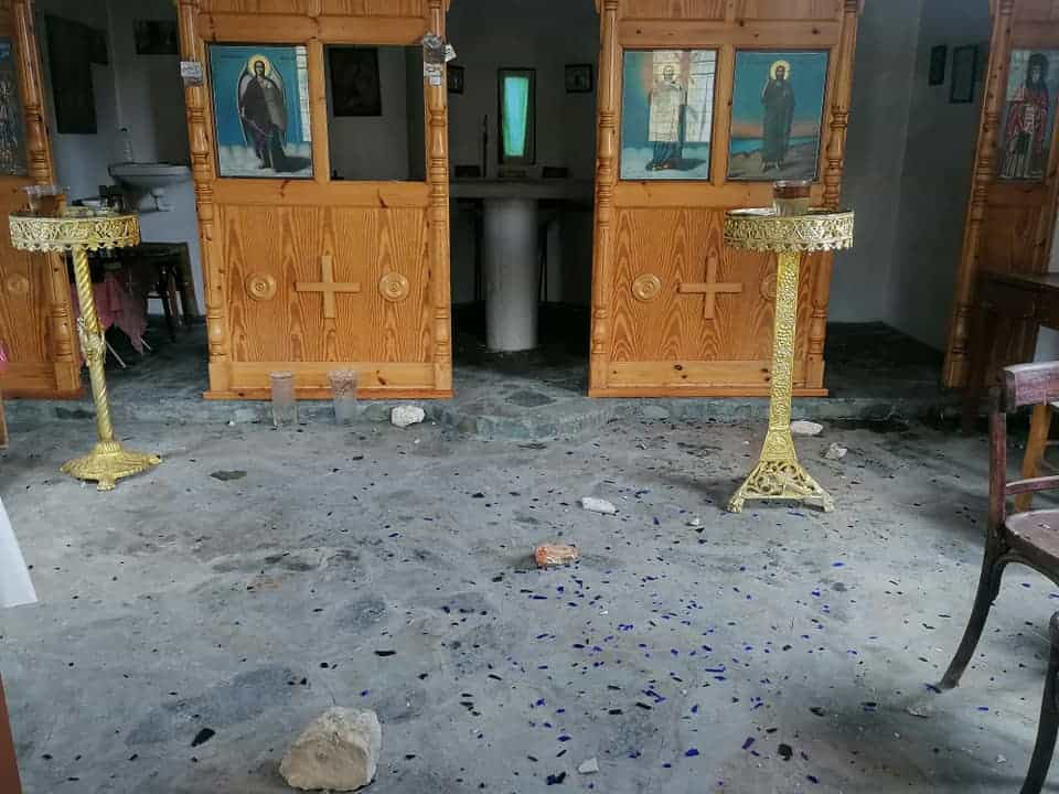 Church in Lesvos attacked with stones by illegal immigrants 6