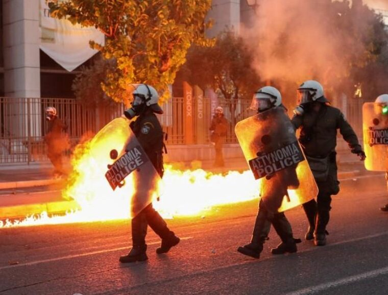 U.S. Embassy in Athens firebombed during protest over the death of George Floyd (VIDEO) 14