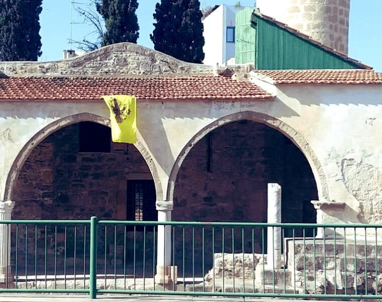 Byzantine flag was found hanging from mosque in Cyprus 6