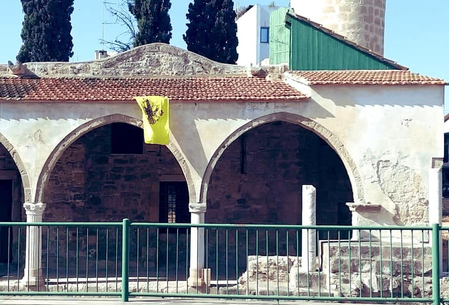 Byzantine flag was found hanging from mosque in Cyprus 2