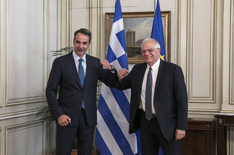 Europe Foreign Affairs Rep meets Greek PM and condemns Turkey's exploitation of migration crisis