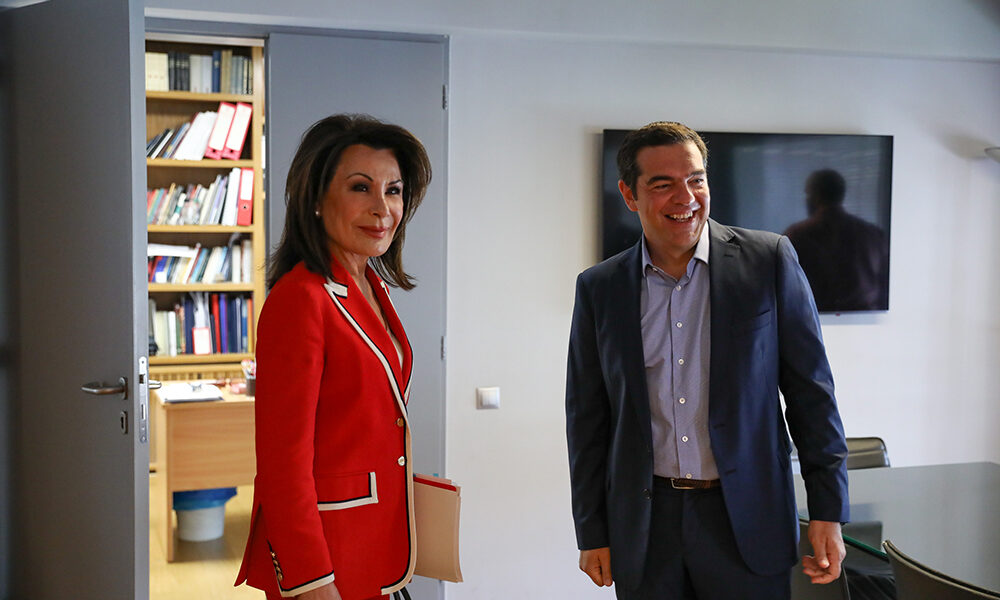 Tsipras meets with Greece 2021 Chairperson Gianna Angelopoulos-Daskalaki 1