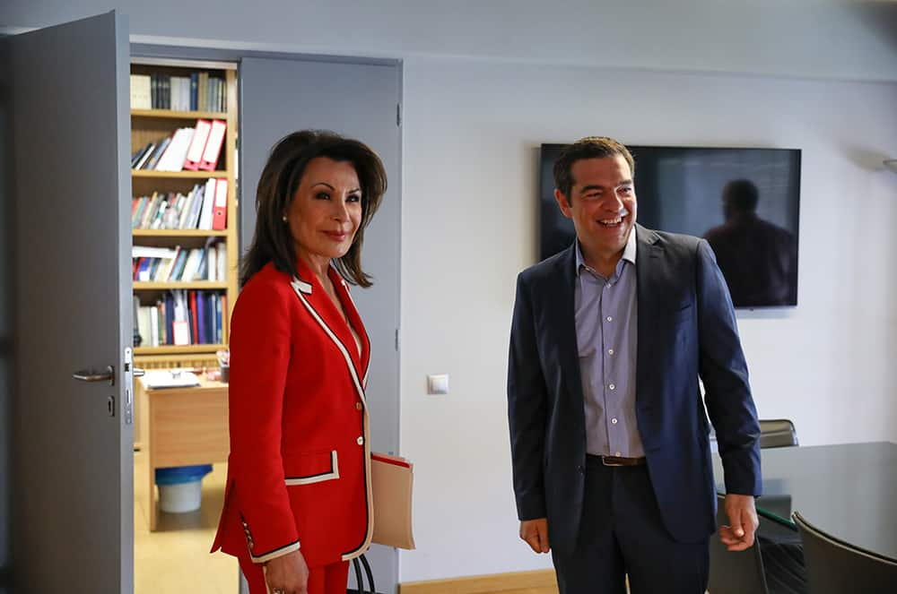 Tsipras meets with Greece 2021 Chairperson Gianna Angelopoulos-Daskalaki 3