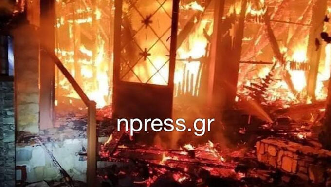 Fire breaks out at the Holy Monastery of Varnakova (VIDEO) 7