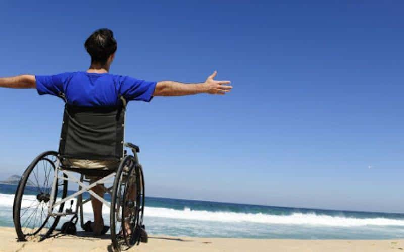 disability, beach
