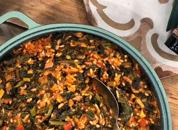 Spanakorizo- Spinach and Rice Recipe