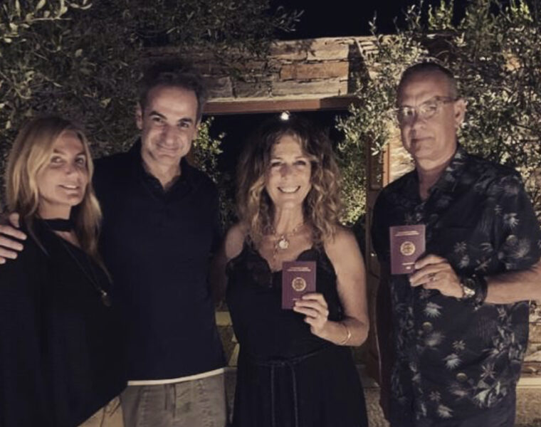 Tom Hanks and Rita Wilson are now proud Greek citizens 3