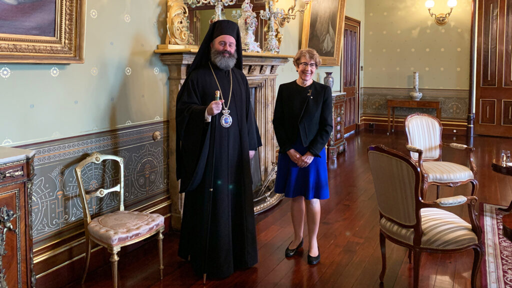 His Eminence Archbishop Makarios meets with the Governor of NSW 2