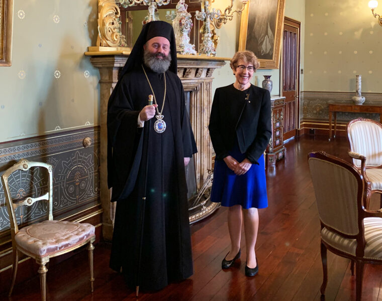 His Eminence Archbishop Makarios meets with the Governor of NSW 1
