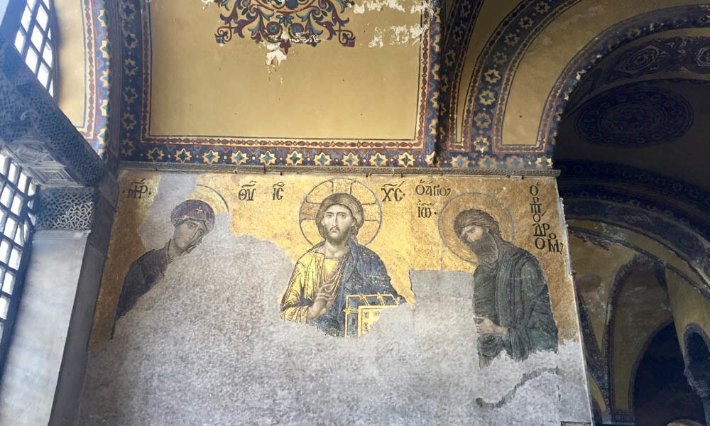 Where icons and Holy relics from Hagia Sophia will be transported
