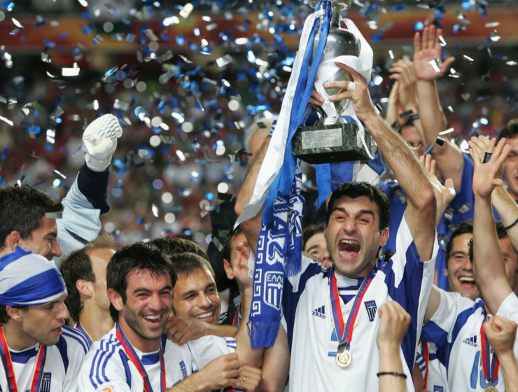 On this day in 2004, Greece won the Euro Cup