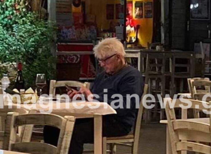 British PM's father dines at his favourite restaurant in Pelion