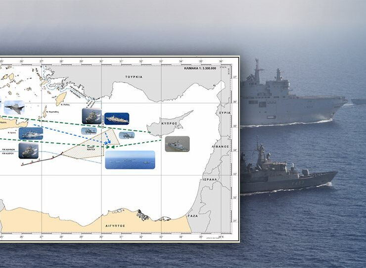 See maps and images from Greece's impressive joint military exercise with France today 7