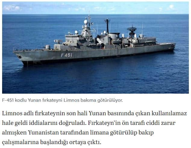 "Turkey caught spreading fake news about ""damaged"" Greek warship to cover embarrassment 7"