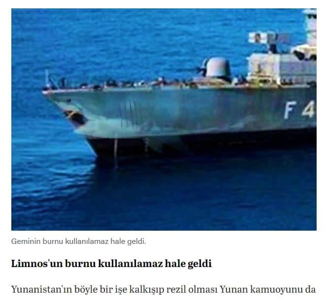 "Turkey caught spreading fake news about ""damaged"" Greek warship to cover embarrassment 8"