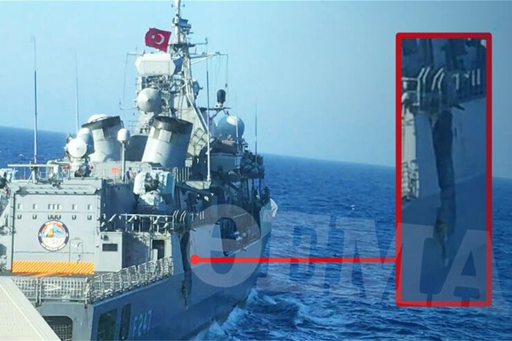 Newly released image exposes full extent of damage on Kemal Reis by Greek frigate 8