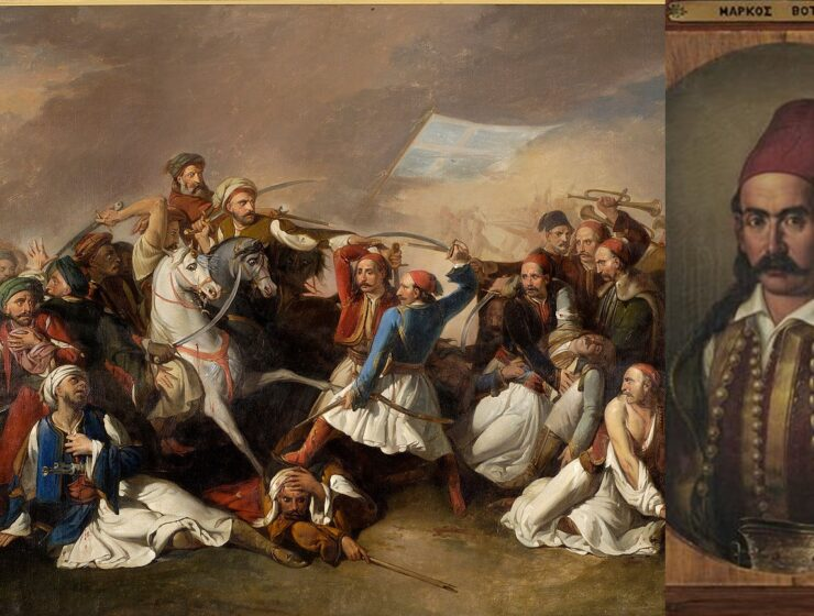 On this day in 1823, Markos Botsaris was martyred when 350 Greeks attacked thousands of Ottomans 8