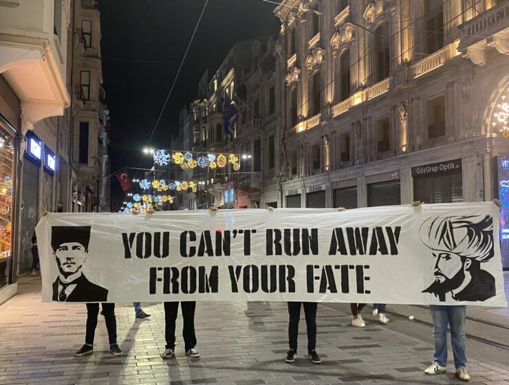 Beşiktaş fans raise banner of Greek Genocide perpetrator before clash with PAOK 6