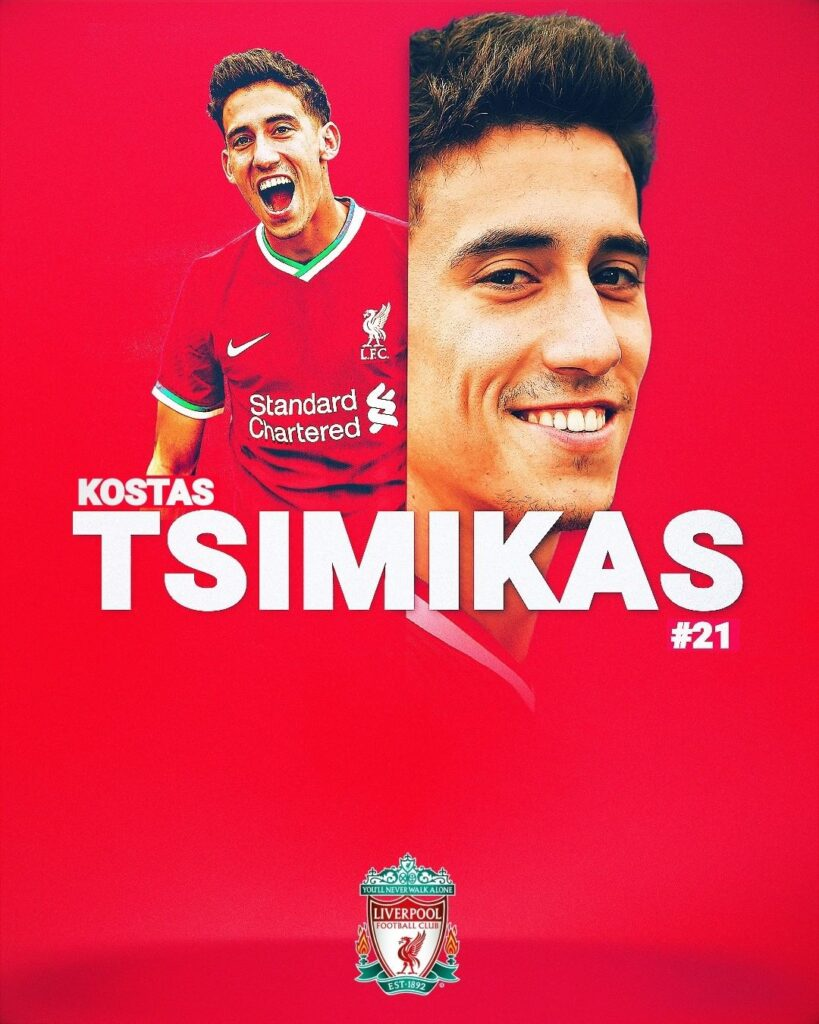 """Liverpool were tracking new signing Konstantinos Tsimikas for """"a long time"""""""