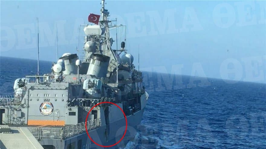 Newly released image exposes full extent of damage on Kemal Reis by Greek frigate 2