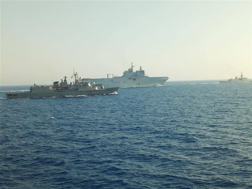 See maps and images from Greece's impressive joint military exercise with France today 11