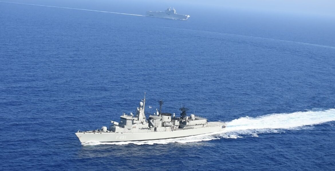 Tensions in the Aegean: Greek frigate rams and damages Turkish war ship 1