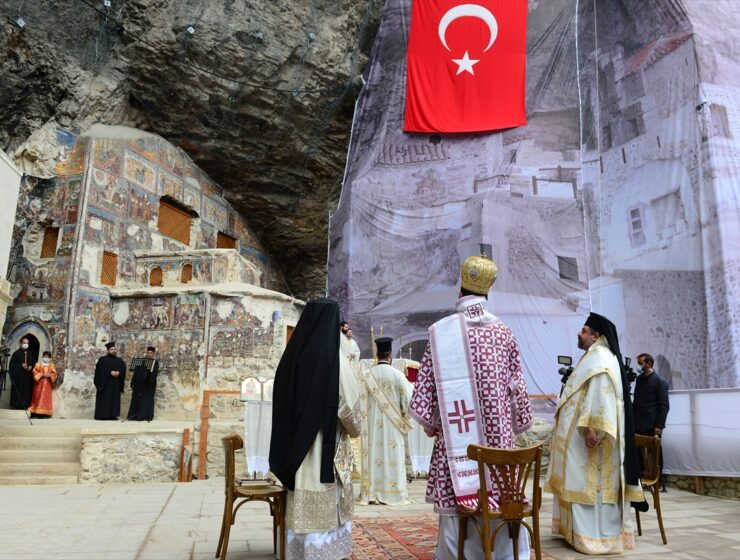 Assumption of Mary celebrated in Pontian monastery among icons destroyed by Turkish vandals 13