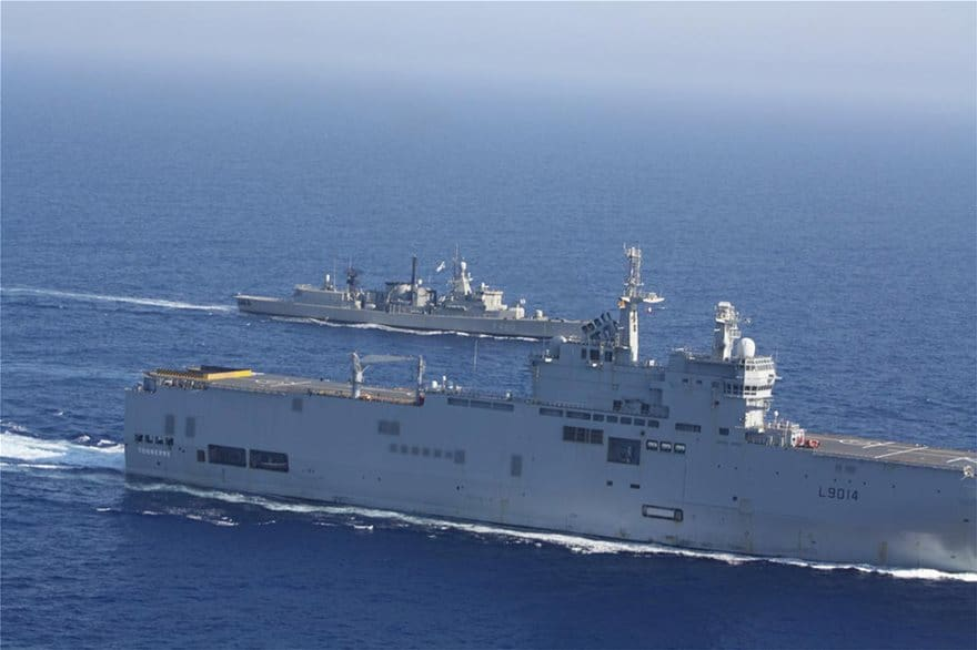 See maps and images from Greece's impressive joint military exercise with France today 12