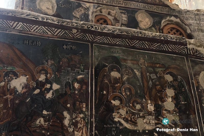 Icons in Pontian monastery destroyed by Turkish vandals 11