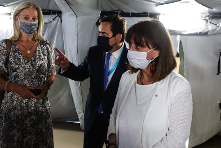 The new Moria health unit is proof of the European solidarity, says Greek President