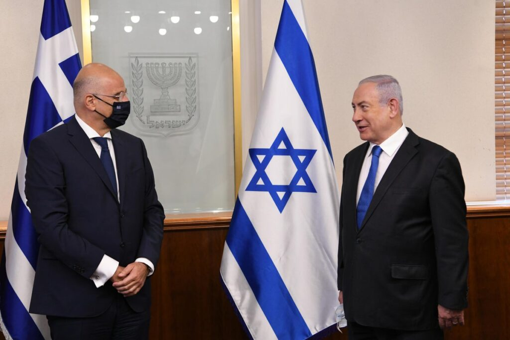 """Greek FM thanks Israel for """"its clear position on the issue of Turkey's violations"""""""