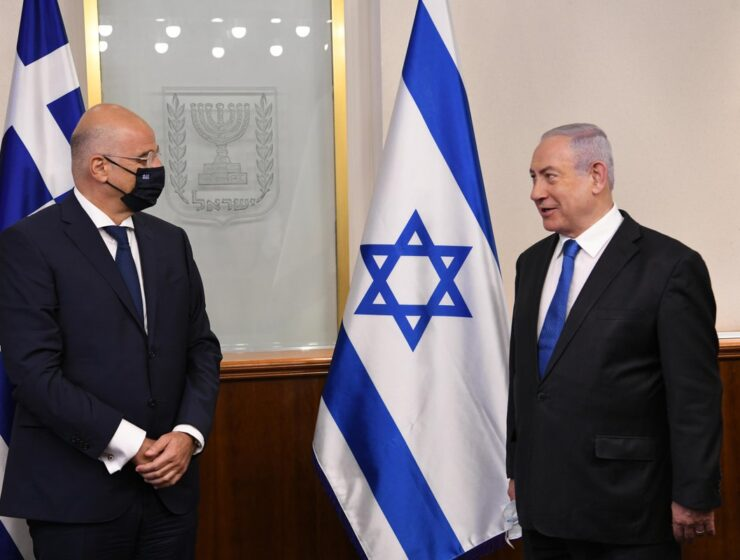 "Greek FM thanks Israel for ""its clear position on the issue of Turkey's violations"""