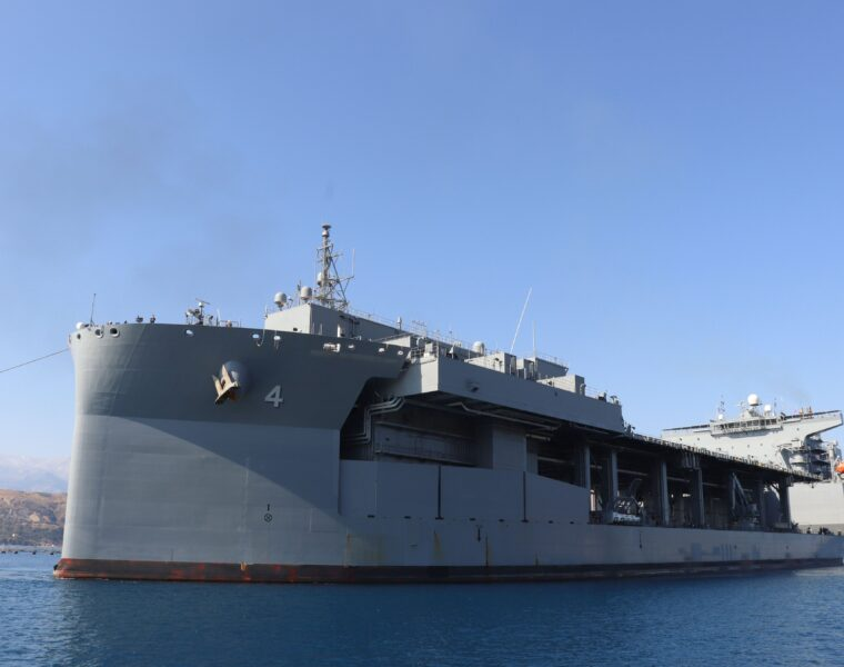 "Naval Base at Souda Bay in Crete welcomes USS Hershel ""Woody"" Williams"
