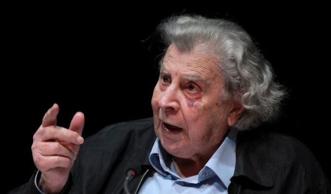 Acclaimed composer Mikis Theodorakis, an advocate of peaceand international law