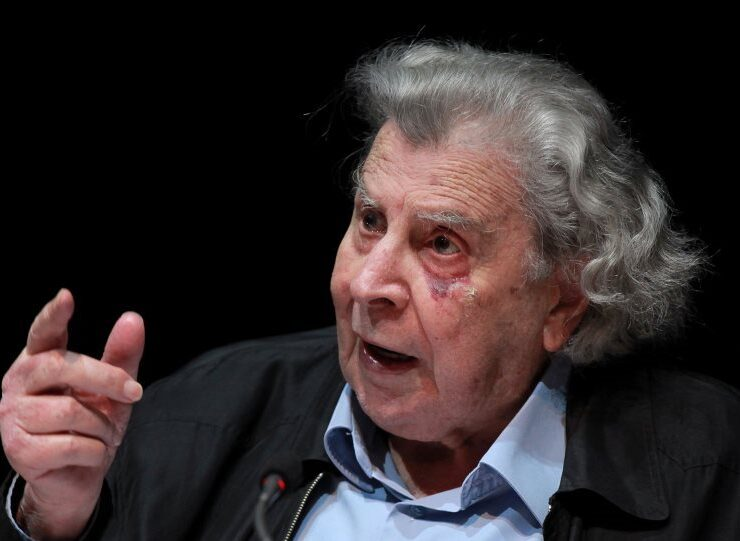 Acclaimed composer Mikis Theodorakis, an advocate of peace and international law