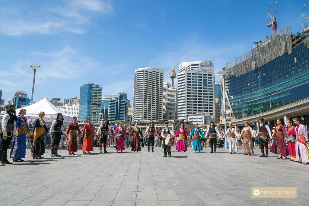 38th Greek Festival of Sydney turns Darling Harbour blue and white
