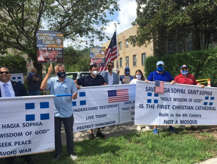 AHEPA protests at Turkish Embassy in Washington, US